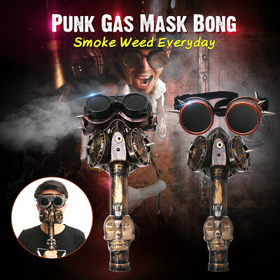 Gas Mask Bong Hookah Mask Tube Water Straight Pipe Punk For Weed Combustion