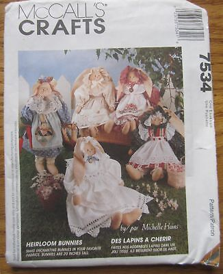 McCall's Uncut Heirloom Bunny Pattern From 1995