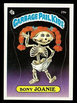 GARBAGE PAIL KIDS: 1ST SERIES, BONY JOANIE, 29a, MATTE, NM, USA
