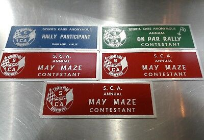 VINTAGE S SPORTS Cars Of Vallejo California Race Trophy Show - Car show trophies dash plaques