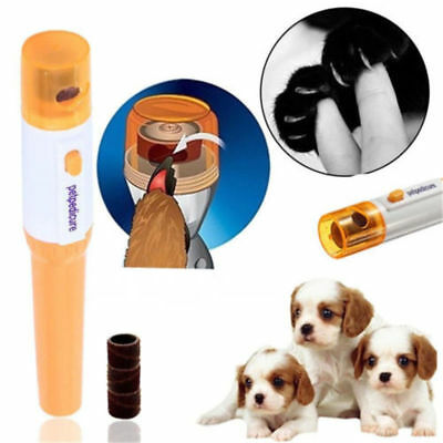 Dog Cat Electric Nail Grooming Grinder Safe Trimmer Clipper Nail File Pet Claw #