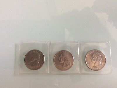 USA Coins - Quarters - 1994, 1995, 1996 - All D Minted - Circulated