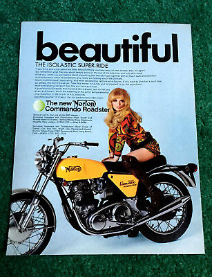 Original 1971 Norton Motorcycle Magazine Ad Commando 750 Roadster Poster?