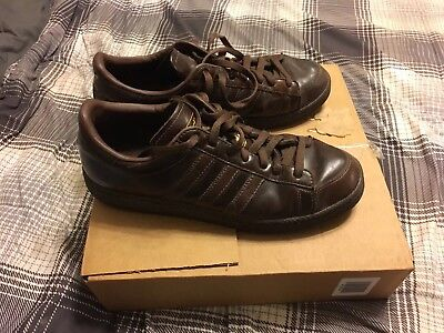 new style b3696 4ef97 ADIDAS Kareem Abdul Jabbar Mens Sneakers Shoes Brown Leather Retro Vintage