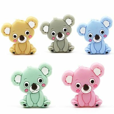 Silicone Bead Animal Cute Teether Teething Safe Baby Care Jewelry Necklace Toy