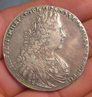 Russia - 1728 Large Silver Rouble - NIce!