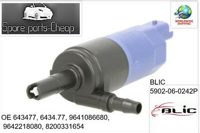 OE 9641086680 Headlight Cleaning Washer Pump For Citroen Peugeot Renault