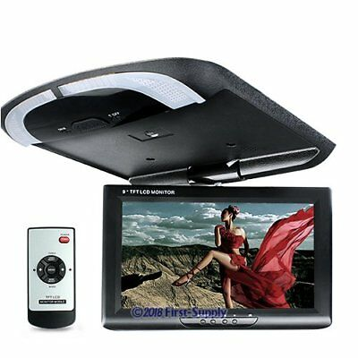 """9"""" In-car Overhead Ceiling Roof Mount Monitor For DVD Display LCD Wide Screen"""