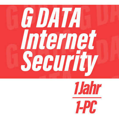 G Data Internet Security 2018 GDATA VOLLVERSION Antivirus - 1 PC für 1 Jahr