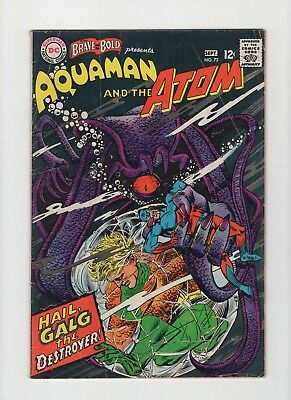 Brave and the Bold #73 Aquaman Atom Appearance VG/FN
