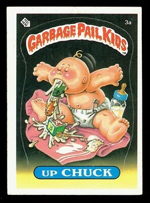 GARBAGE PAIL KIDS: 1ST SERIES, UP CHUCK, 3a, MATTE, EX-, USA