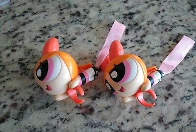 Lot Of 2 Cartoon Network Powerpuff Girls Rings-Hard Plastic