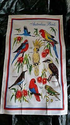Australian souvenir Birds tea towel NEW great  gift idea 100% cotton