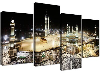 Large Islamic Canvas Wall Art Pictures of Hajj Pilgrimage to Kabah in Mecca - XL