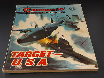 Commando War Comic Number 741!,1973 Issue,good For Age,45 Years Old,v Rare.