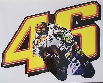 Valentino Rossi  VR 46 Vale the Doctor Aufkleber 13x10 cm Sticker