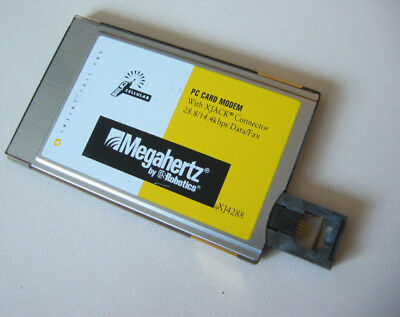 Vintage Megahertz XJ4288 PCMCIA Card Data Fax Modem US Robotics Used