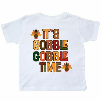 Inktastic Thanksgiving Gobble Time Turkey Toddler T-Shirt Holiday Fall Autumn