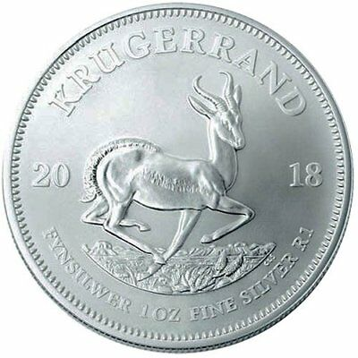 1 oz .999 Solid Silver South African Krugerrand Coin from the South African Mint