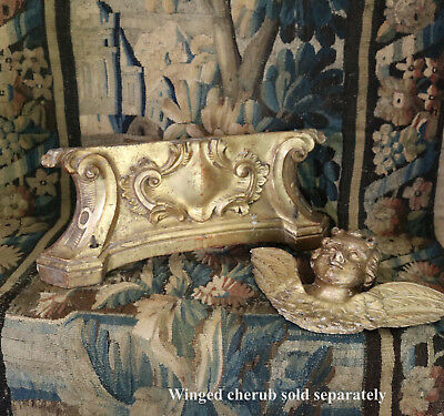 Antique French Carved Giltwood Altar Frontal Bracket Architectural Salvage