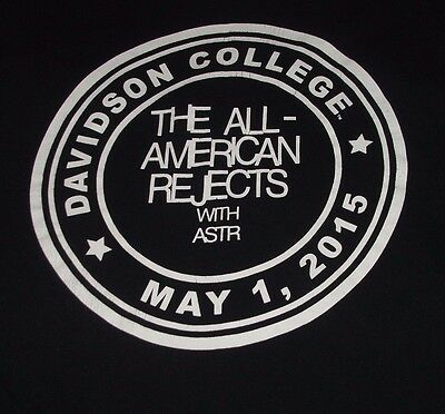All American Rejects T Shirt L CREW ONLY Davidson NC 2015