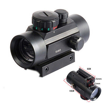Tactical Holographic Sight Green Red Dot Sight Scope 1x40mm Cross Riflescope  FW
