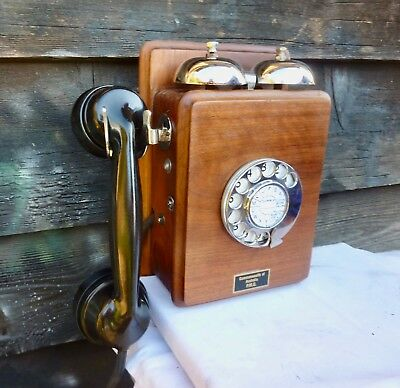 Vintage Wall Phone..Fully working.Stunning.C1930/40.