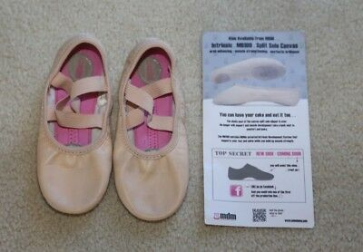 MDM EUC Girls Leather Split Sole Ballet Dance Shoe Size 12N Heap Of Dance Listed