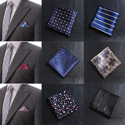 Paisley Pocket square Satin Men handkerchief Chest Towel Hankies embroidery