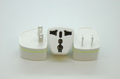 3x UK/EU/AU TO US,CANADA MEXICO,BRAZIL,JAPAN  2 Pin Power Plug,Travel Adapter