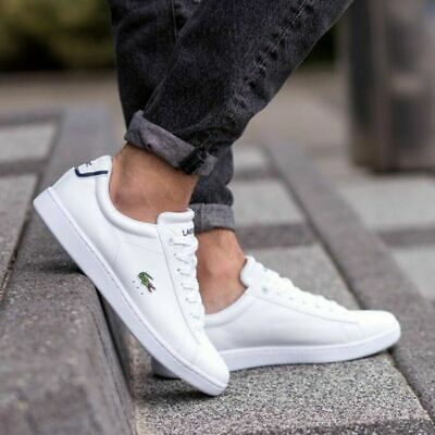 60858870fa LACOSTE CARNABY EVO 317 2 Leather Espadrille Chaussures Cuir Homme ...