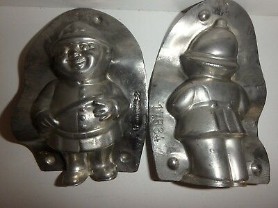 XRARE antike Schokoladenform POLIZIST antique chocolate mold POLICEMAN REICHE