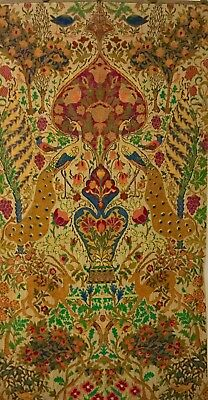 ANTIQUE PERSIAN TAPESTRY 'HAVEN' MAGNIFICENT, LARGE BEAUTIFUL 86in. HEIGH