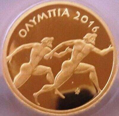Best price GOLD Proof 🅰️ Ancient Greece 50 Euro 2016 OLYMPIA 🅰️ GRECE