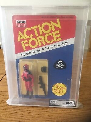 Vintage 1983 Action Man Action Force Red Shadow Figure Graded 80% Ukg - Rare