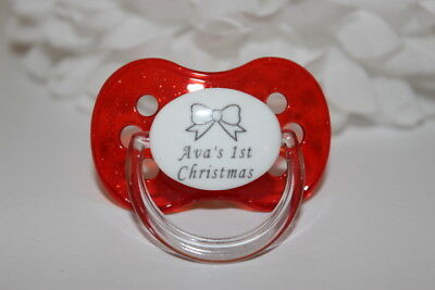 Personalised Dummy *cherry Teat* *can Be Sterilised* Soother Pacifier Dummy