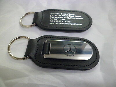 Mercedes-Benz - Silver & Black Keyring *NEW*