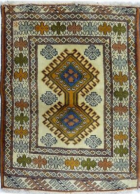 Tapis Persan Traditionnel Oriental hand made 88 cm x 65 cm  N° 63
