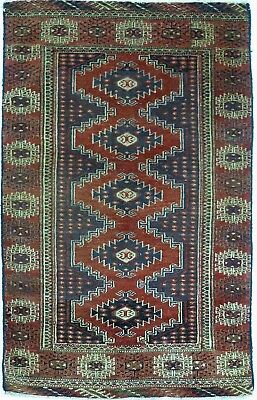 Tapis Persan Traditionnel Oriental hand made 112 cm x 70 cm  N° 58