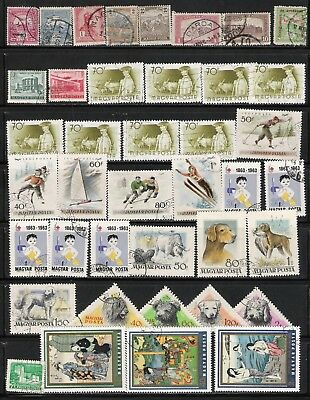 Hungary 1900-84 Sc# 53-O5 (133 Stamp) 3 Page Remainder Lot - With some Nice Art
