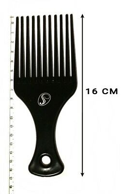 1 Pc Antibacterial Afro Comb Black Colour Suitable For Curly & Afro Hair