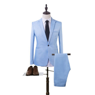Mens Two-Piece Suit Business Pants Blazer And Jacket Wedding Tuxedo Leisure  NEW
