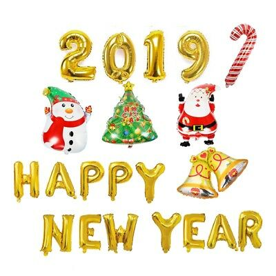2019 Happy New Year Foil Balloons Merry Christmas Banner BALLON Home Decoration