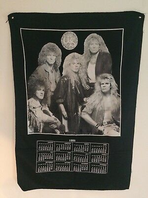 Whitesnake Tapestry Calendar Flag Banner 1988 Hair Metal 27X39
