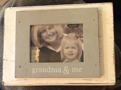 Mud Pie Grandma Me Photo Frame Holds 3 X 4 Picture
