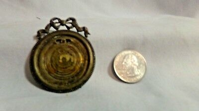 Antique Collectible Miniature Metal Frame With Stand, Victorian Style