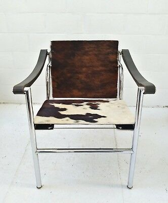 Lc1 Cassina Le Corbusier Perriand Jeanneret Chaise Arm Chair Fauteuil Tricolore