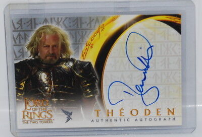 LOTR Two Towers BERNARD HILL as THEODEN Autograph Auto card TOPPS