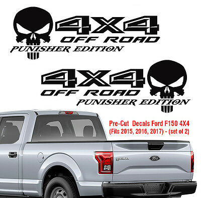 Ford F150 4X4 off road Punisher Decals Truck Sticker Vinyl 2015 2016 2017 Decal