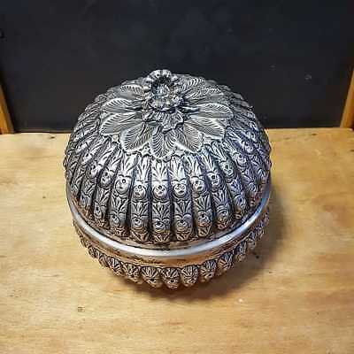 Beautiful Vintage Silver Sterling 800 Sugar Bowl 417 Gram